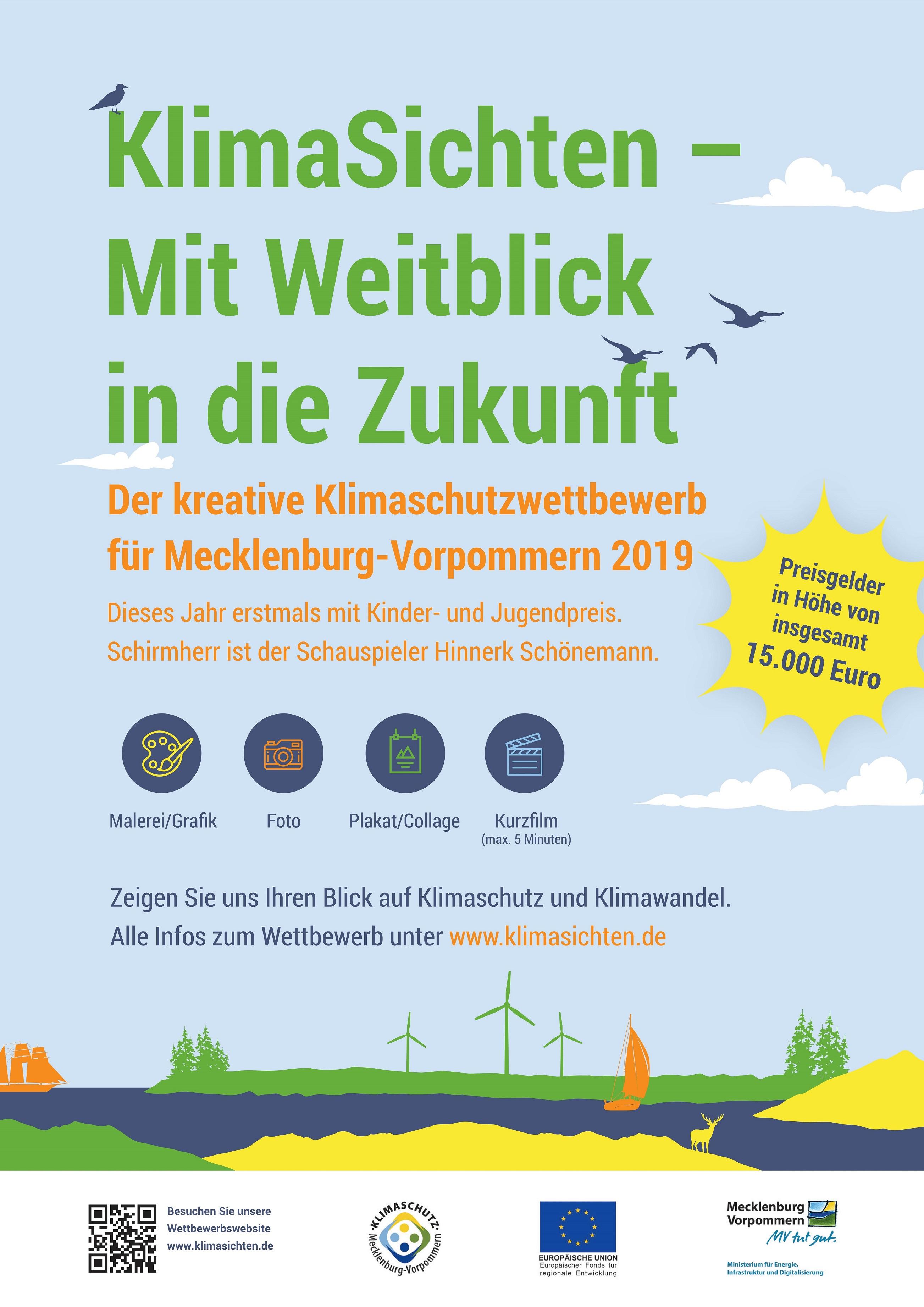 Plakat Klimaschutzwettbewerb KlimaSichten 2019